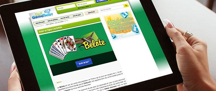 Défier les joueurs de belote du monde entier sur GameTwist