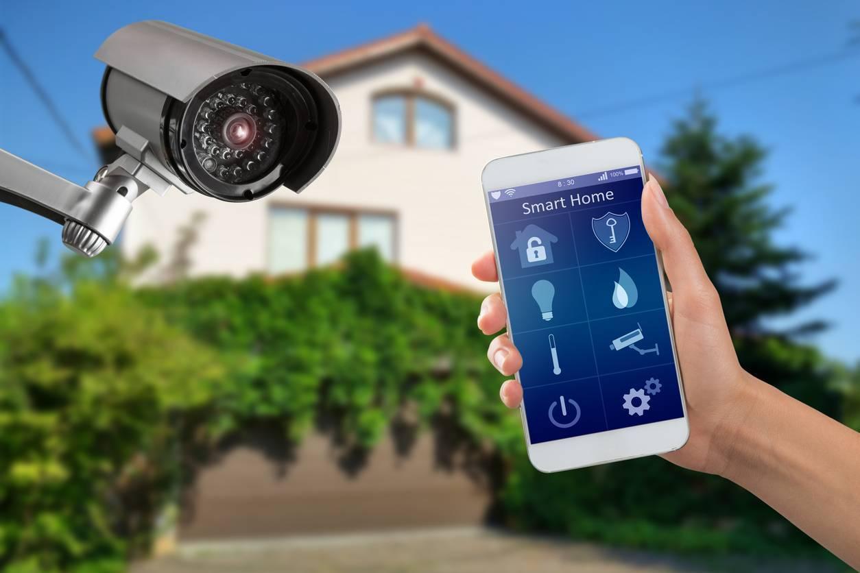 domotique télésurveillance caméra sécurité maison